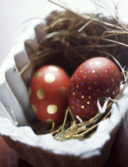 Elegant Eggs With Simple Color Scheme