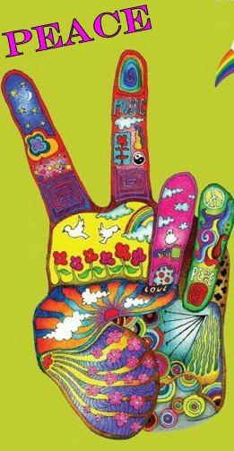 Colorful hippie peace sign
