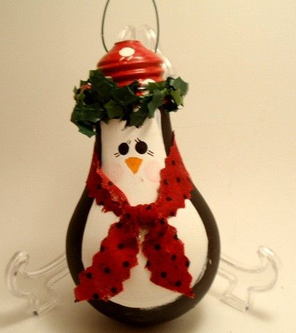 Penguin lightbulb ornament