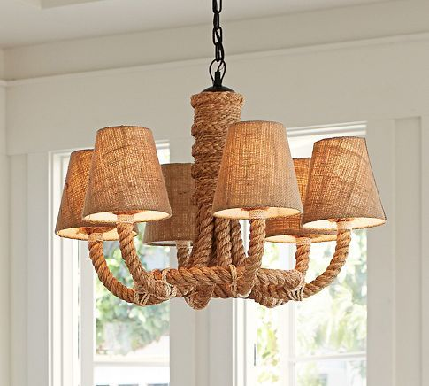 Rope Chandelier Pottery Barn