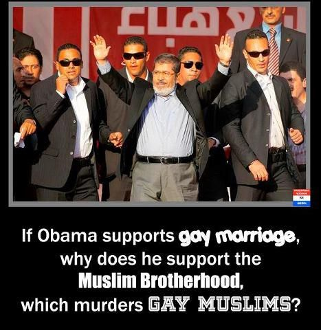 Muslim Brotherhood HATES & disrespects gays, women, Christian, Jews, anyone different from them. YET, Obama sent them $1,500,000,000.00 of OUR money !!!  *** Truth***Obama is a HABITUAL LIAR!!!***