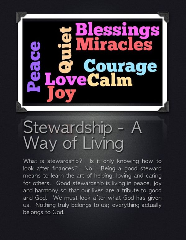 Stewardship Quotes And Sayings. QuotesGram