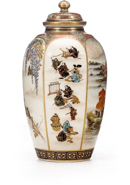 A fine Satsuma vase and cover By Yabu Meizan, Meiji period (late 19th century). Photo: Courtesy of Bonhams.