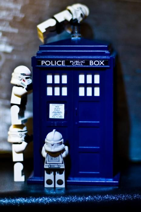 Stormtroopers and the TARDIS.