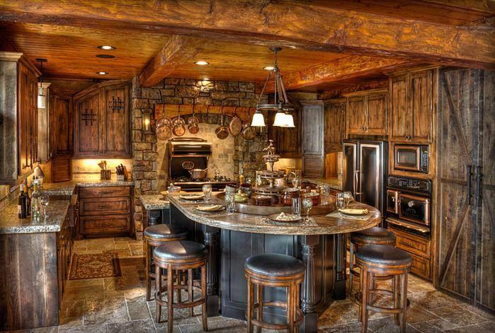 Cabin Kitchen Log Lovin
