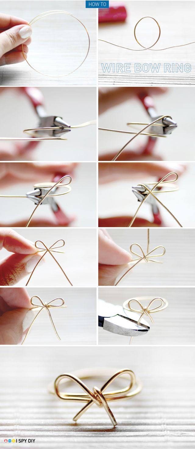 I Spy DIY:DIY [Wire Bow Ring]