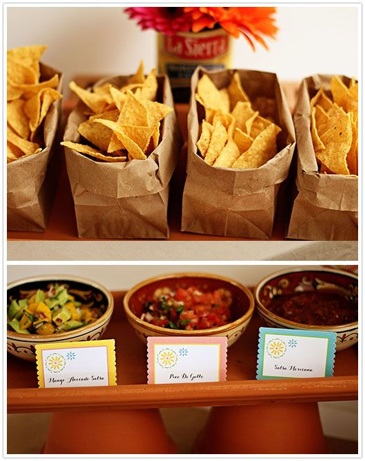 Mexican Fiesta Taco Bar great for tailgating  #footballfood