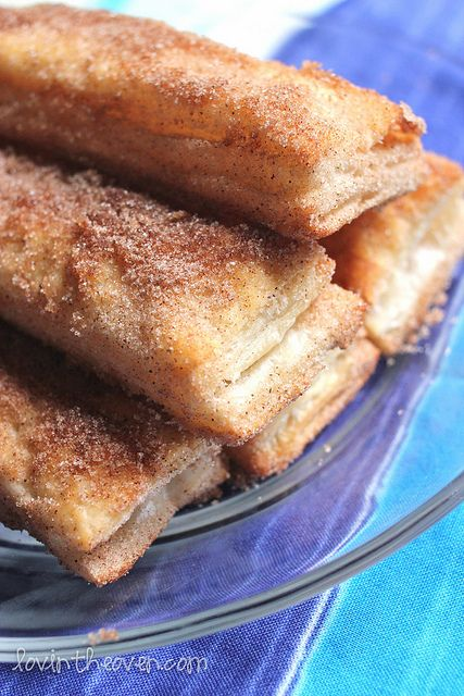 Baked churros. They sound so easy and delicious--and a lot healthier than the fried ones