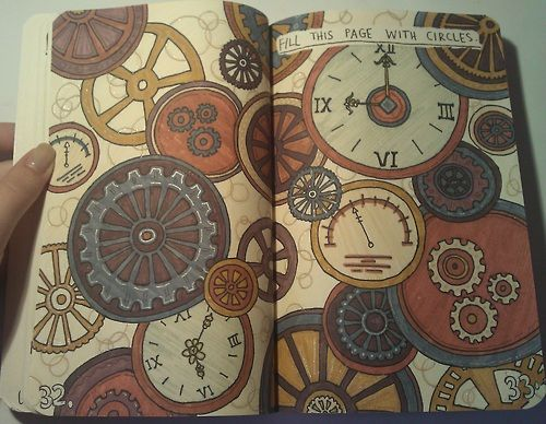 """""""Fill with Circles"""" page: this picture made me think of another idea, gallifreyan!"""