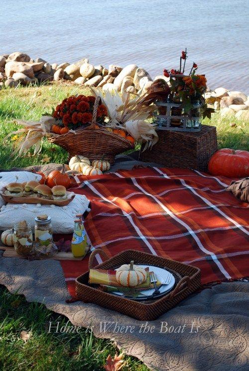 Fall Picnic...enjoy those final days before old man winter comes.  #picnic #fall #fallpicnicideas