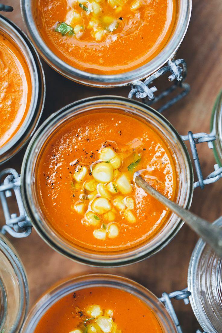 Carrot, Tomato & Coconut Soup   greenkitchenstories.com #vegetarian #MeatlessMonday