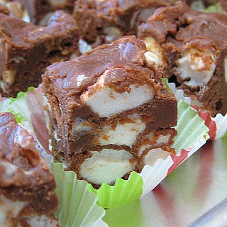 Rocky Road Fudge Recipe ~ This fudge is easy, delicious and requires no candy thermometer!