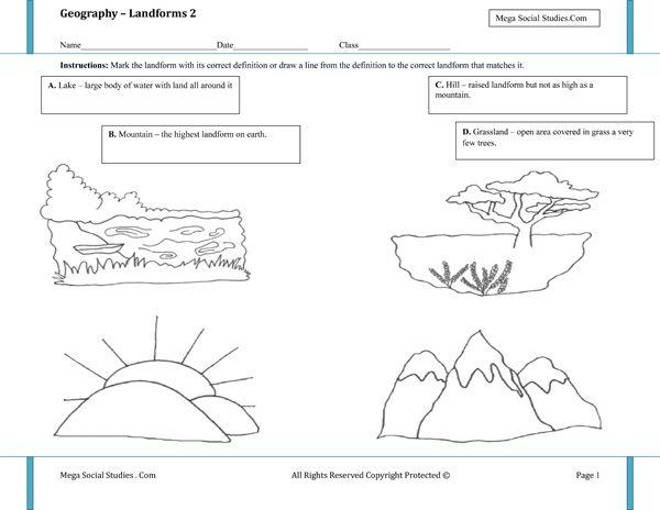 Geography Worksheet New 446 Free Geography Landform