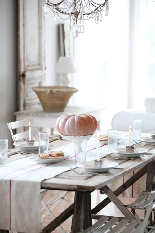 dreamy whites - gorgeous table for thanksgiving