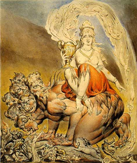 "William Blake ""The Whore of Babylon"" - BABALON, as the Great Mother, represents MATTER, a word which is derived from the Latin word for Mother. She is the physical mother of each of us, the one who provided us with material flesh to clothe our naked spirits; She is the Archetypal Mother, the Great Yoni, the Womb of all that lives through the flowing of Blood; She is the Great Sea, the Divine Blood itself which cloaks the World and which courses through our veins; and She is Mother Earth, the ..."