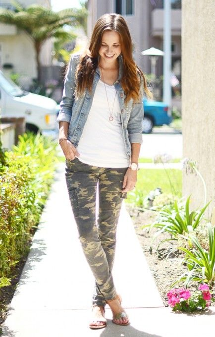 Camo pants outfit.. Wore this yesteday.