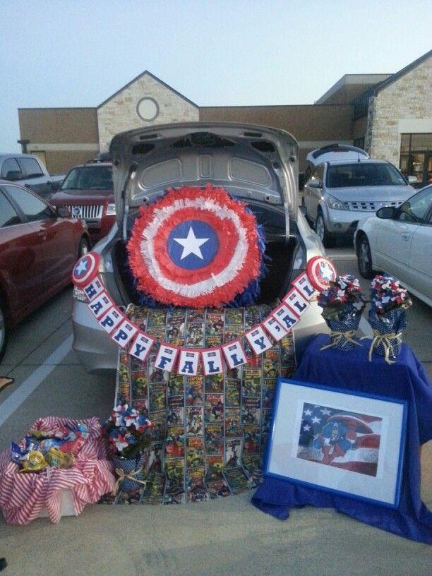 Captain America Trunk Or Treat HalloweenTrunk Or Treat
