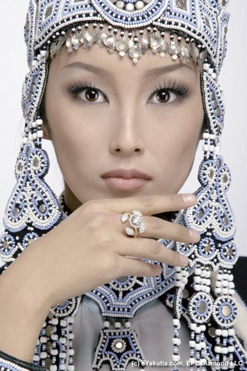 Lovely. Yakut woman, Yakutistan, Russia.