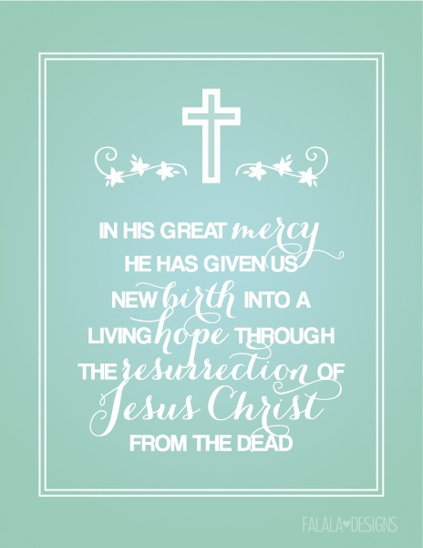 1Peter 1:3b Full Page Printable from Falala Designs