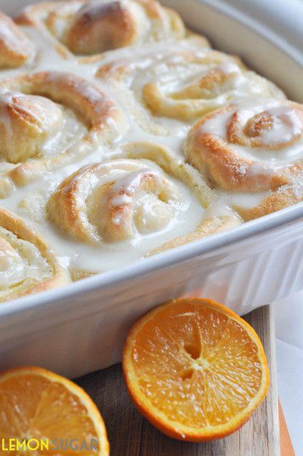 Sweet Orange Rolls - Lemon Sugar