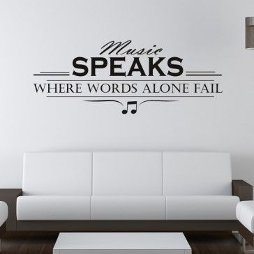 Music Speaks Wall Art Quote Decals - New Decals