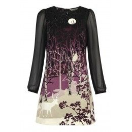 Yumi Forest Silhouette Dress
