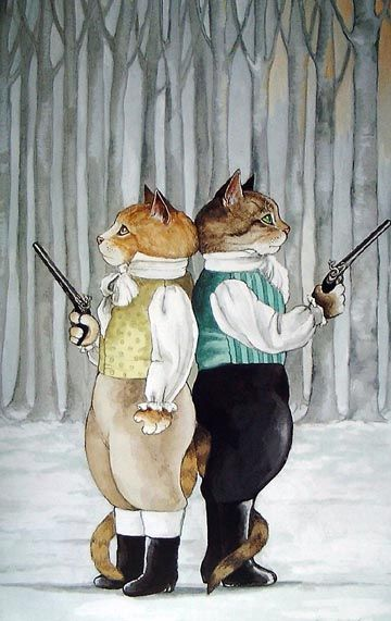 Susan Herbert Cat Painting....I kind of love this in a funny way