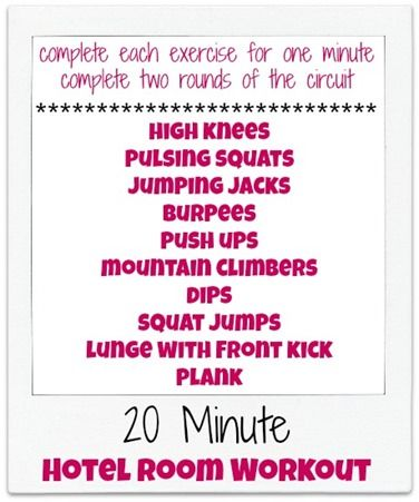 20-Minute Hotel Room Workout