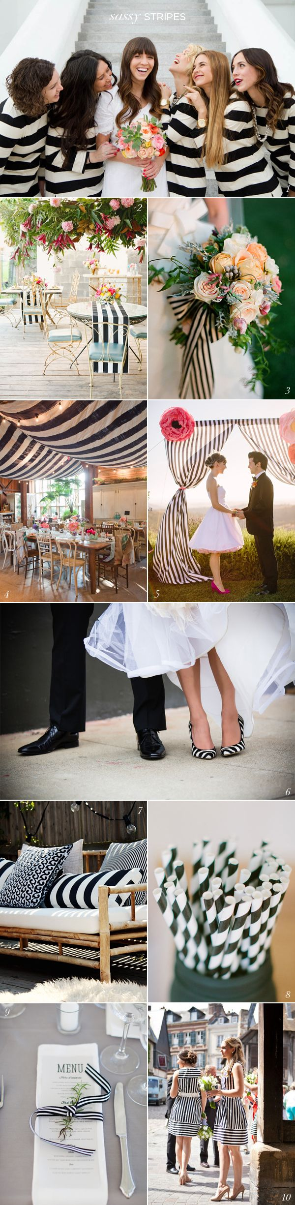 Black White Stripe Wedding Ideas EXCEPT I WOULD DO POLKA DOTS!!!!!!!!!!!!!!!!!!!!!!!!!!!