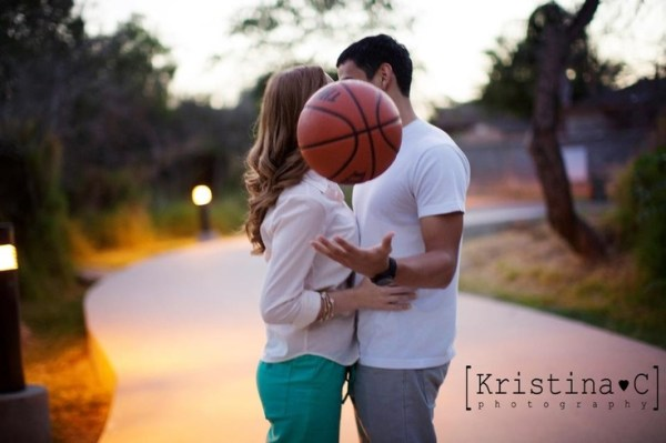 Couple shoot. Love and basketball
