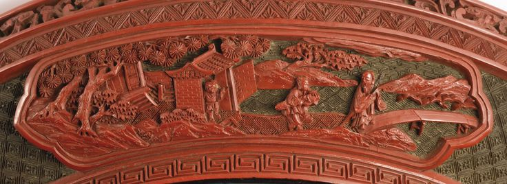 A FINELY CARVED POLYCHROME LACQUER 'CHUN' BOX AND COVER<br>MARK AND PERIOD OF QIANLONG | Lot | Sotheby's