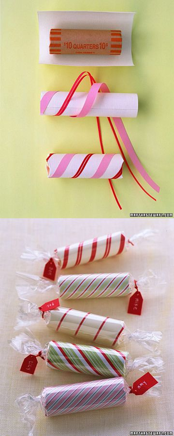 roll of coins stocking stuffer...cute idea!! So doing this! My boys love coins!