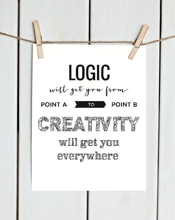 Printable Art creativity Printable Quote by PastelFeatherStudio