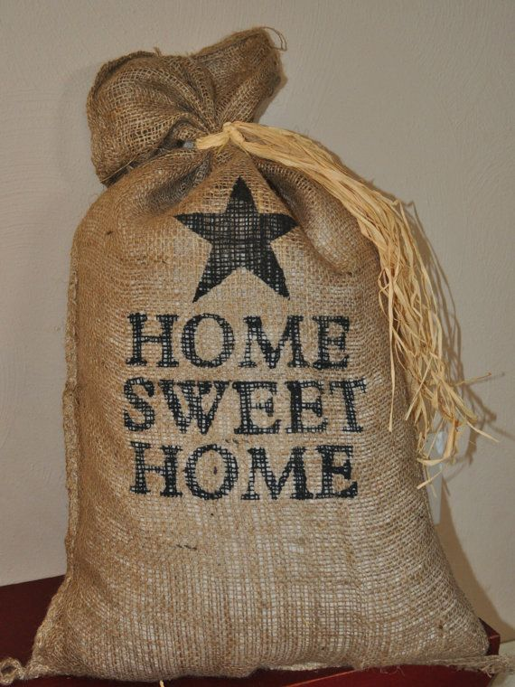 17 X 27 Decorative Burlap Bags by marycottrellwilson on Etsy, $16.99