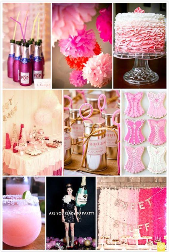 Bachelorette partido inspiración de - me encantan los mini botellas de champán rosado adorable estupendo