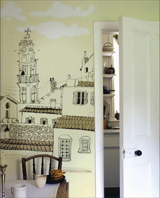 kids room (Illustrated wallpaper by Esen Demirci)