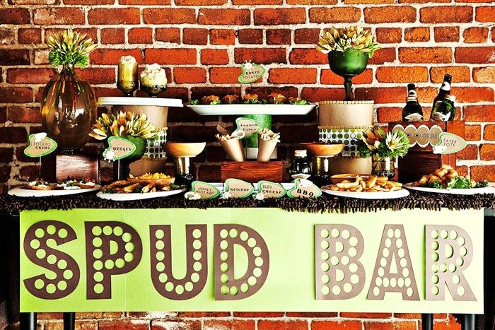 Pick-Your-Potato Bar - Unique Wedding Bars- Alcoholic, Appetizer, and Desert Bars on earlyivy.wordpress.com