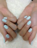 Light Blue Nails. Perfect for your something blue! #wedding #somethingblue