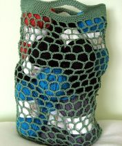 Ravelry: Hexagonal Net Crochet Bag pattern