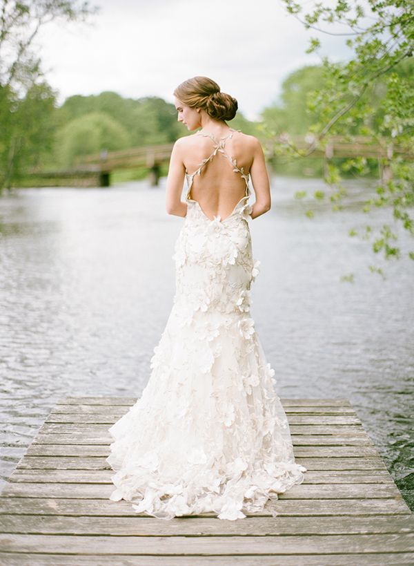 dramatic back wedding dress