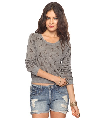 Heathered Anchor Top  Forever21.com  $14.80