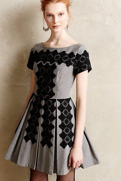 Melaena Embroidered Dress #anthrofave