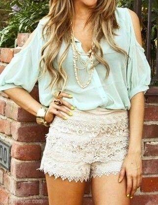 Lace Shorts fashion hair jewelry feminine