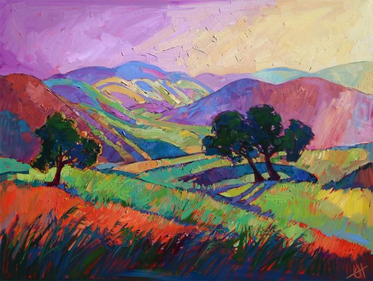 """Color Drift III"" Original oil painting by Erin Hanson"