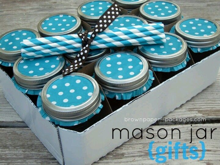Cupcake papers to fancy up Mason jar gifts or canning