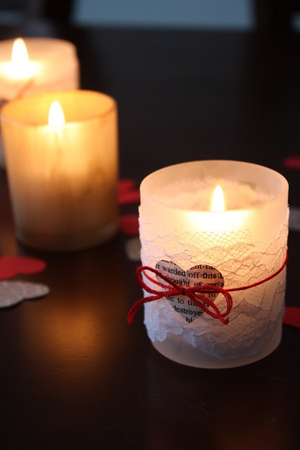 DIY Valentine Decor Week - Day 4: Candle Holders