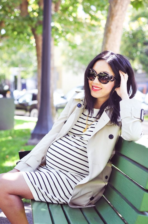 stripes + trench | 9 to 5 chic