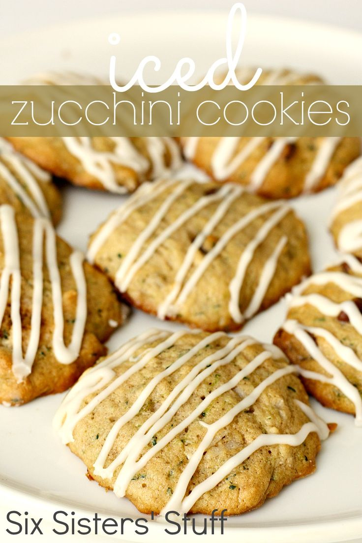 Iced Zucchini Cookies from SixSistersStuff.com- the perfect way to use up all those zucchinis from your garden!