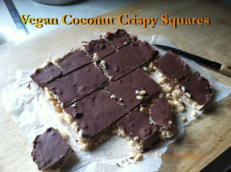 Chocolate-Dipped Coconut Crispy Bars (Marshmallow-Free) Recipe Vegan