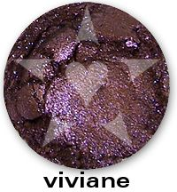 "Viviane is an intense smokey bronzed violet with bright purple sparkles. From Aromaleigh Mineral Cosmetics ""Bete Noire"" Mineral Eyeshadow Collection... http://www.aromaleigh.com/nebnomieyco.html"